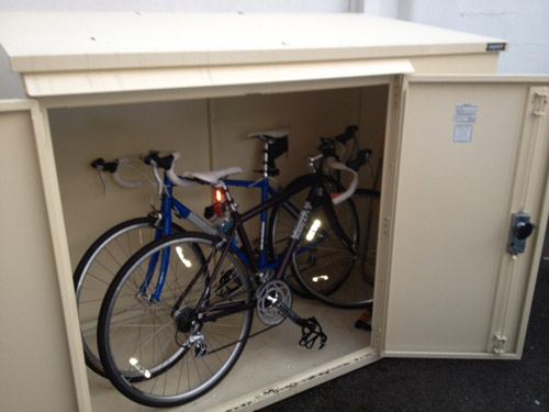 Reviewed and approved bike storage from Asgard