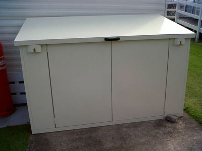 The Access metal shed - caravan storage from Asgard