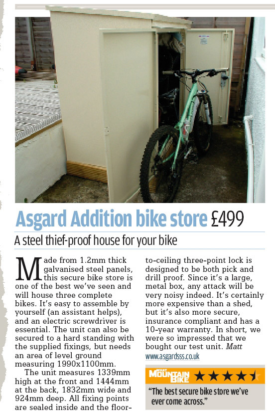 Asgard Bike Storage Review