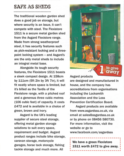 Asgard in Kitchen garden magazine