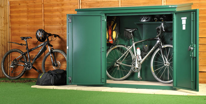 Annexe bike shed assembly