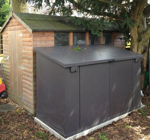 woodworking plans garden pergola metal bike shed for 4 bikes. Black Bedroom Furniture Sets. Home Design Ideas