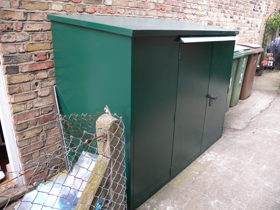 The Addition metal garden shed from Asgard
