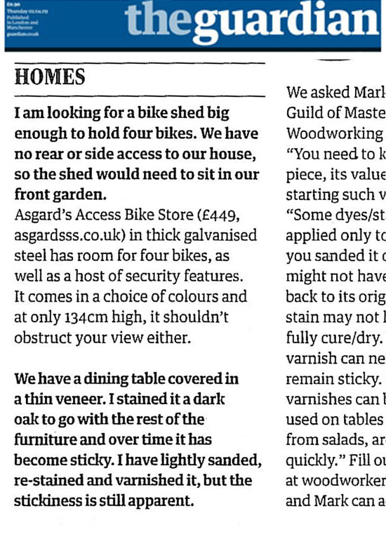 Metal Bike Storage In The Press