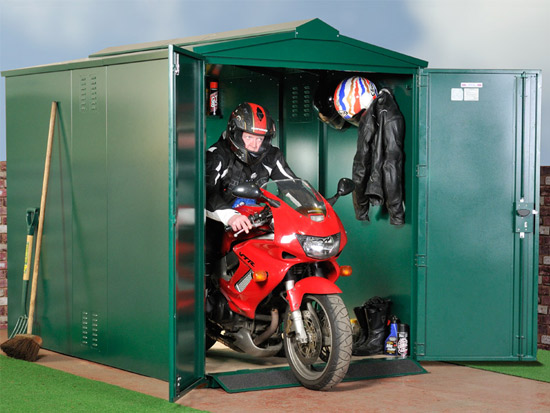 domestic motorcycle storage