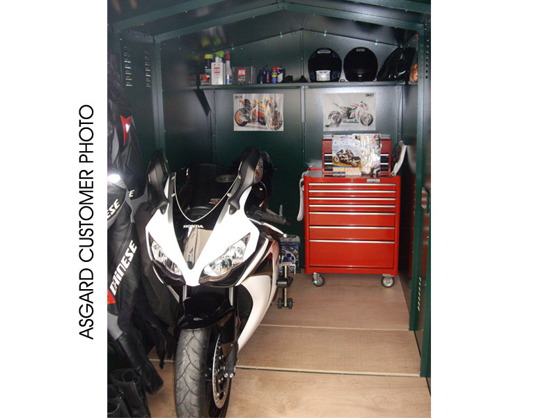 Motorcycle storage from Asgard Secure Steel Storage