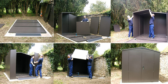 installing your metal shed