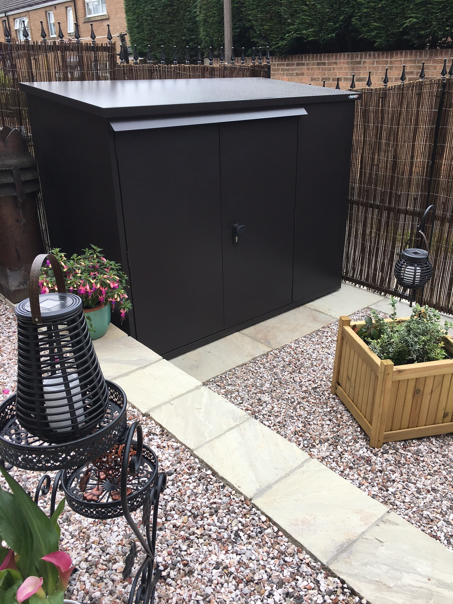 Peace of mind outdoor secure storage