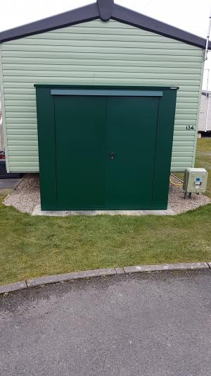 The Trojan Plus – 7 x 3 Combined Metal Garden and Bike Shed