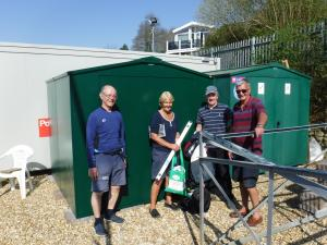 A secure shed for our sailing charity