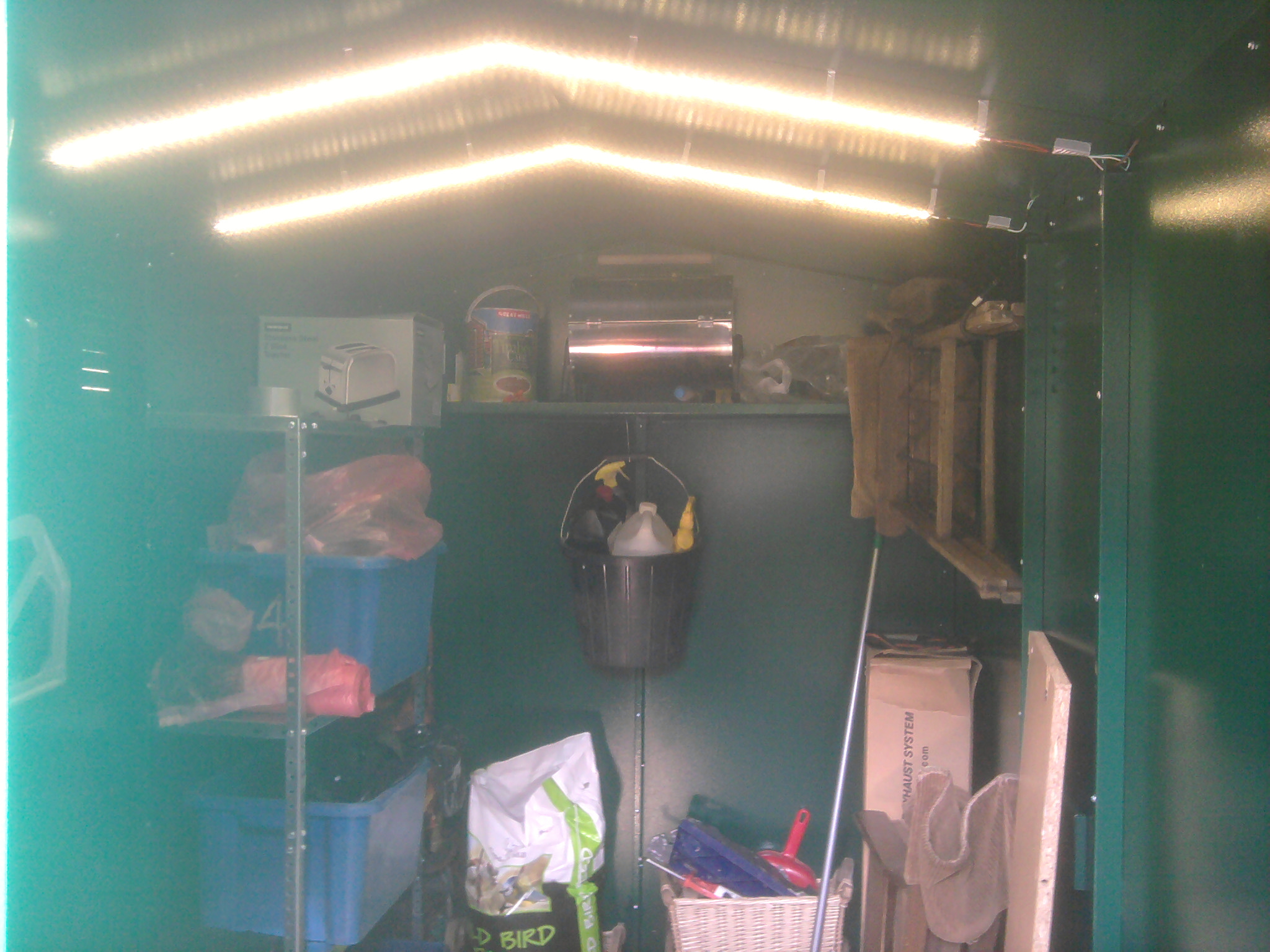 I wanted a garden shed that had to fit into a tight 3 sided space, so it was very important that it could be assembled from the inside. This unit has by far exceeded my expectations,  the accuracy of build is astounding  with every single screw hole linin