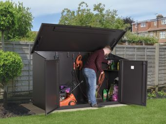 Access E Metal Garden Shed with accessories