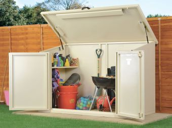 Caravan site storage shed