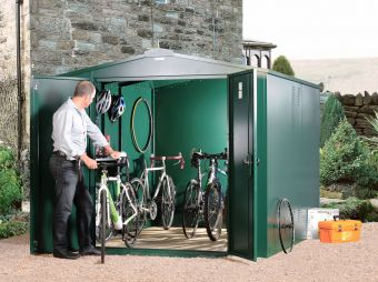 Gladiator Cycle Store - heavy duty all metal cycle storage