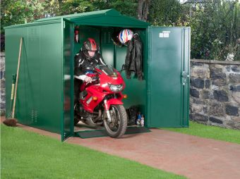Asgard Motorcycle Storage Shed - Secured by Design - Police Approved Motorbike Storage