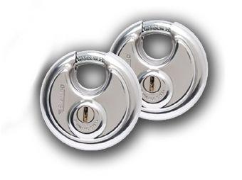 Disc padlocks for Asgard Access shed range