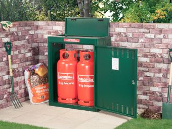 Secure Gas bottle storage - Small - Store 4 Gas Bottles