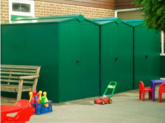 Large school storage units ideal for school playgrounds and sports fields