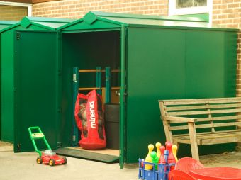 Ride On Mower Storage Shed - Secured by Design