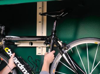 Turn any Asgard shed into a secure bike storage shed.