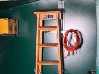 Hang ladders off the floor