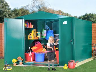 School storage for outdoor equipment