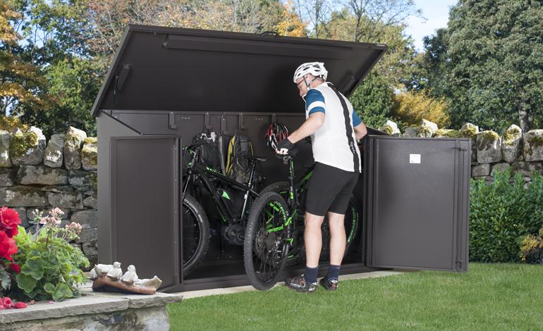 64f5bf2c937 metal shed with floor | metal garden sheds | metal bike storage ...