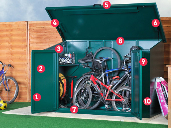 Asgard 4 bike shed features