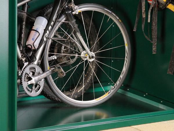 metal bike shed floor