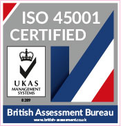 Asgard are ISO 45001 Registered