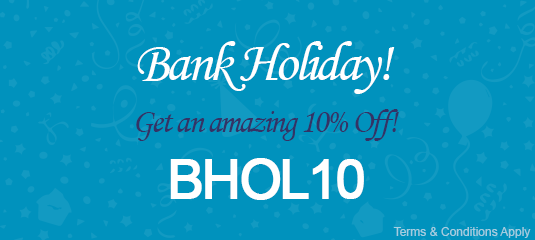 10% Off this Bank Holiday