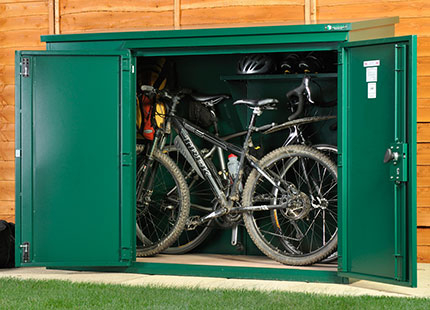 Bike Sheds from £500 & metal shed with floor | metal garden sheds | metal bike storage ...