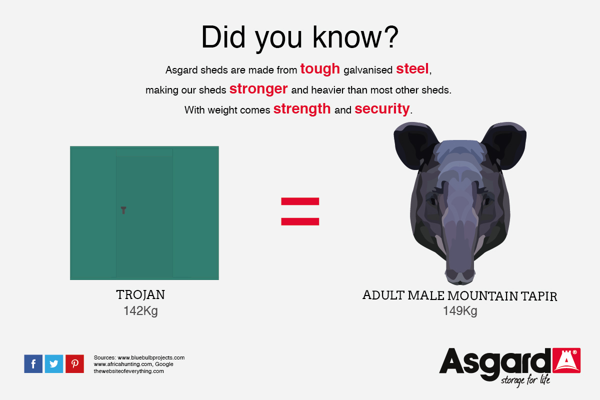 A Trojan and a Tapir weigh the same