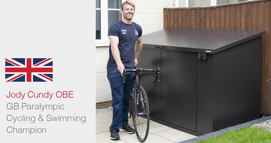Jody Cundy & Asgard Bike Storage