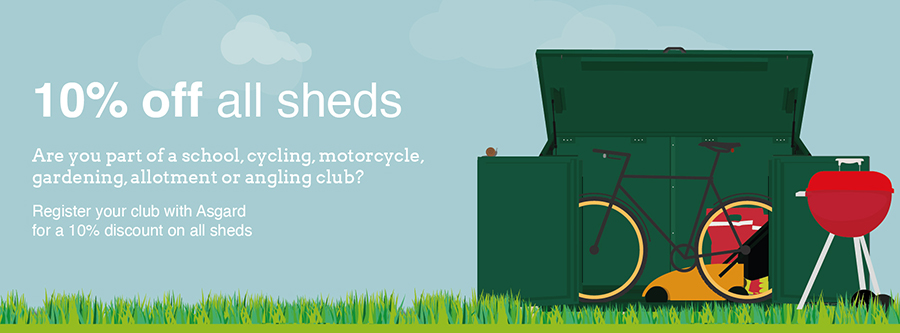 Discount code for secure metal Asgard sheds