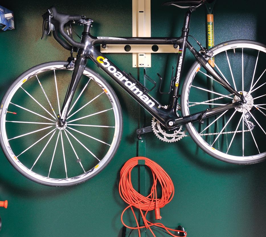 Hang bike up within an Asgard shed