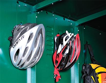 Asgard metal bike shed storage hooks