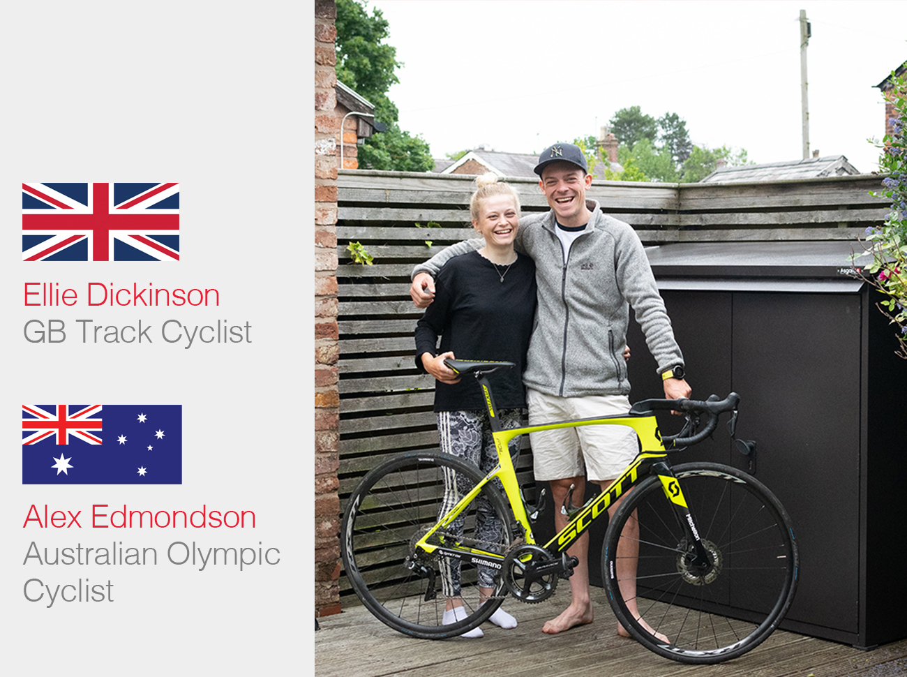 Australian Olympic cyclist Alex Edmondson and Team GB Ellie Dickinson