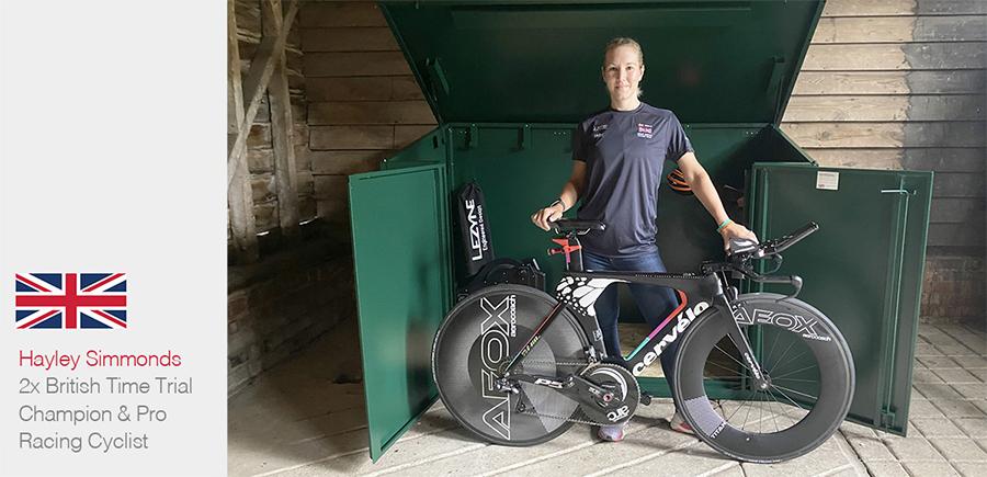 Hayley Simmonds Team GB & Her Asgard Bike Shed
