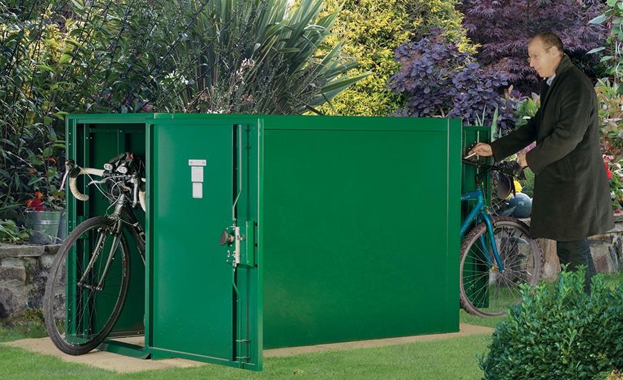 Double Ended Bike Locker Storage Shed