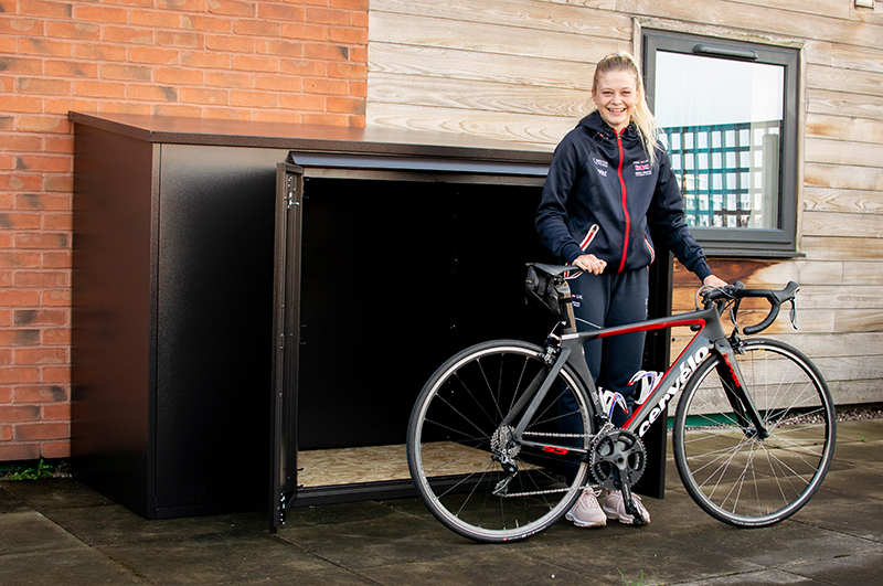 Professional bike storage shed