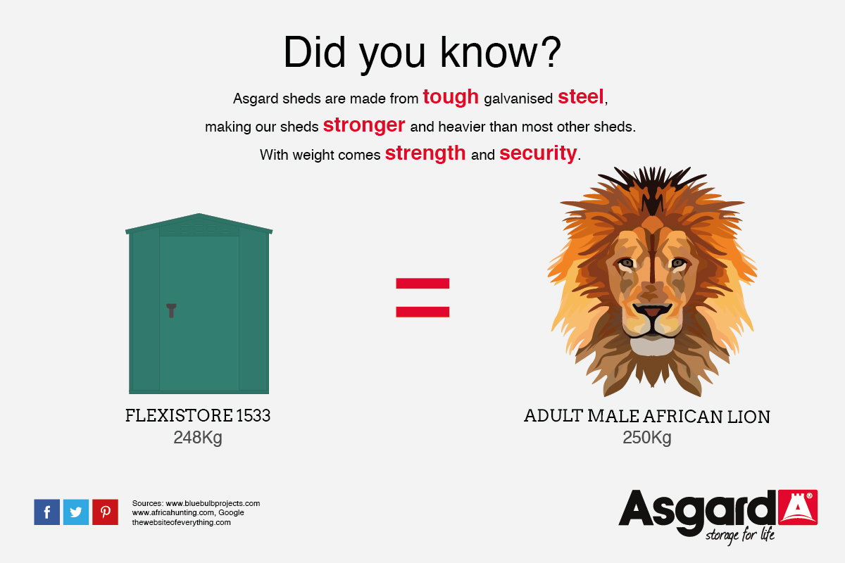 Flexistore1533 and Lion weigh the same