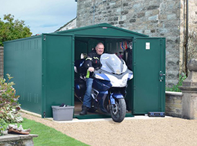 Motorcycle Shed with Ventilation