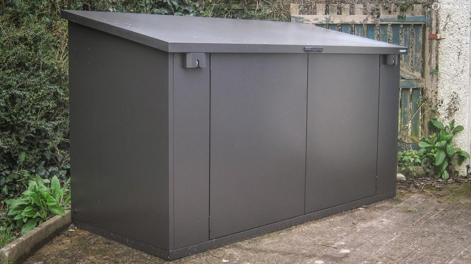 Fully built metal electric bike storage shed