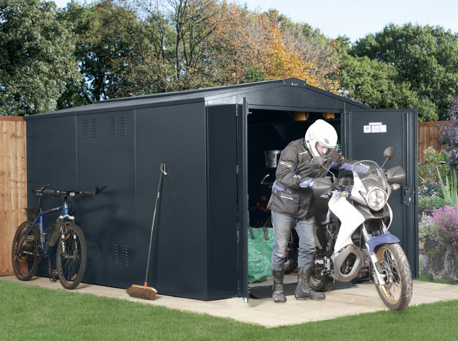 Metal Secure Shed for Motorcycles