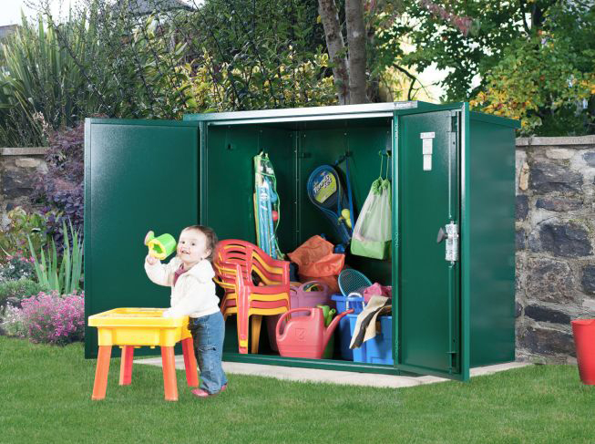 School storage for playgrounds and sports fields