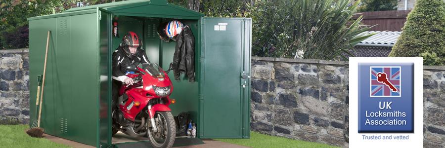 UKLA approved motorbike storage