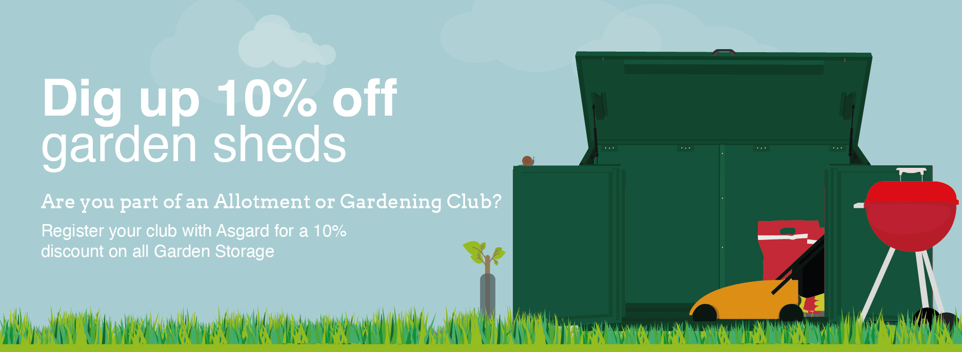 Asgard Club Discount Code for Garden Storage Sheds