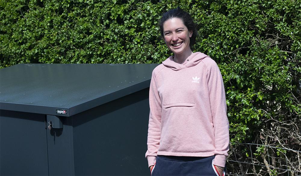 Emma Trott, British Cycling Coach bike storage
