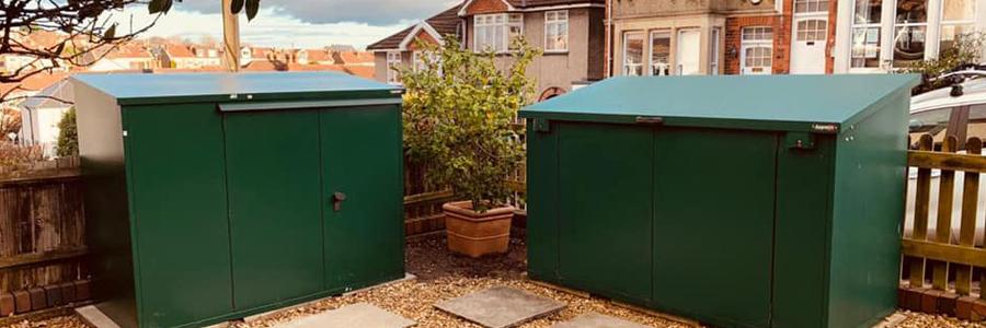 Planning permission for bike storage sheds